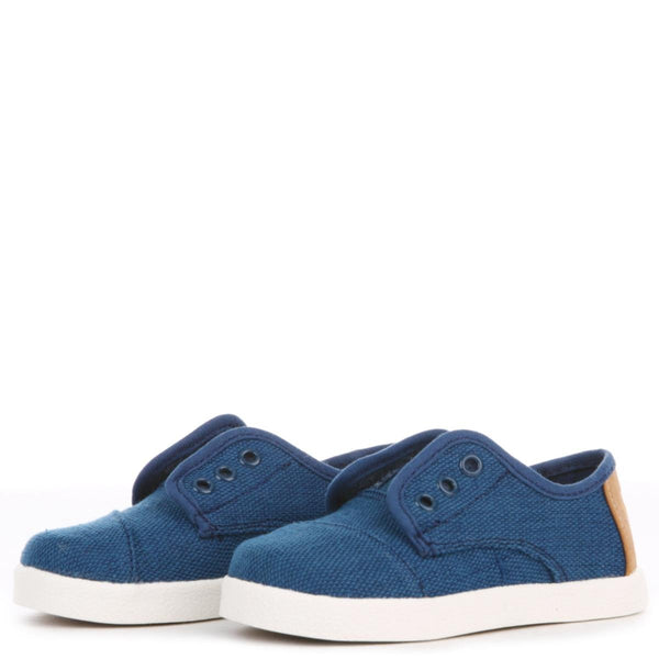 Toms for Toddlers: Deep Ocean Burlap Paseo Sneaker