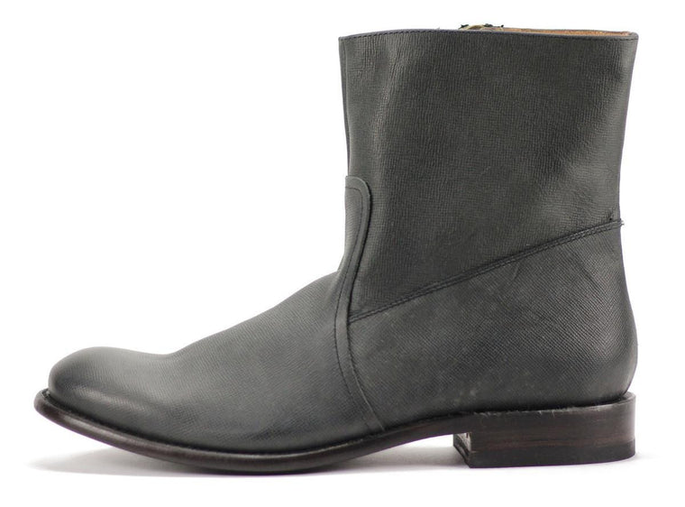 JD FISK for Men: Dale Black Leather Boots