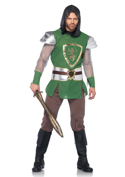 4PC.Queens Guard,hooded tunic,belt,arm cuffs,pants in GREEN