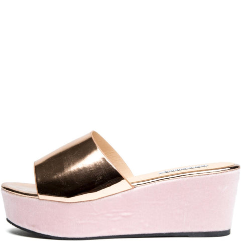Cape Robbin Allie-2 Rose Gold Women's Platform Sandal