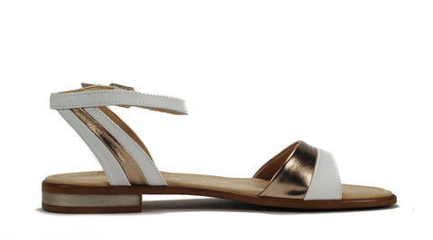 Seychelles for Women: Wont Stop Whiskey White Gold Leather Sandal