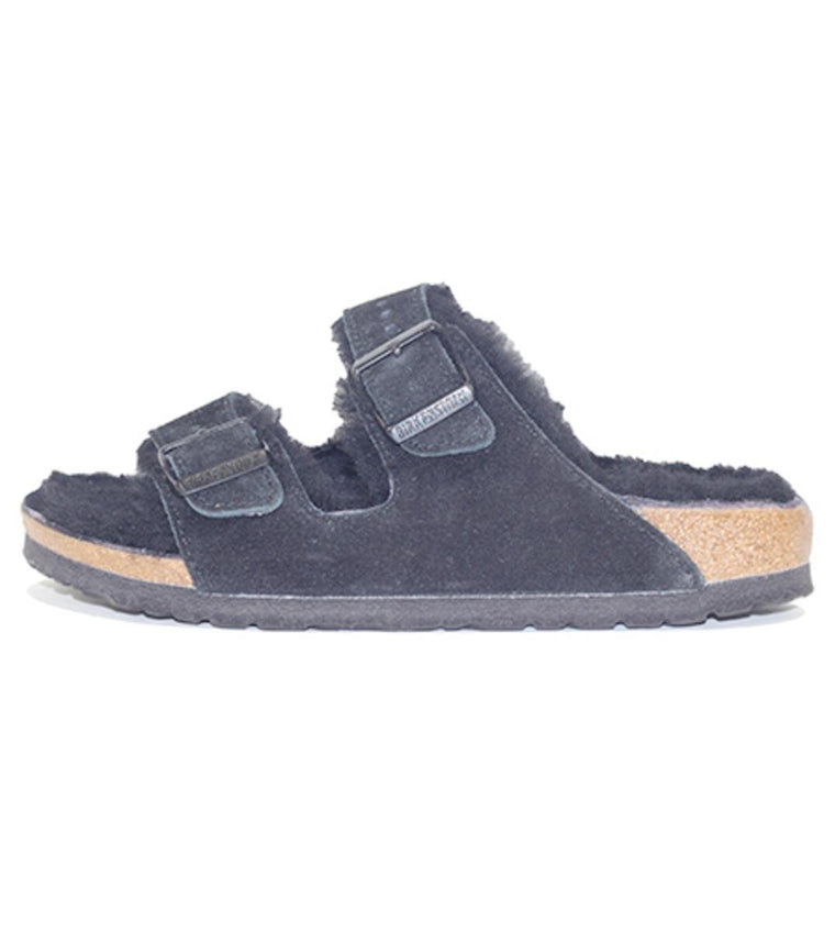Birkenstock for Women: Arizona Fur Suede Black Sandal