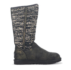 UGG Australia for Women: Camaya Knit Suede Black Boot