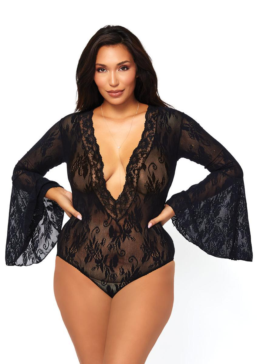 Women's Stretch Lace Deep-V