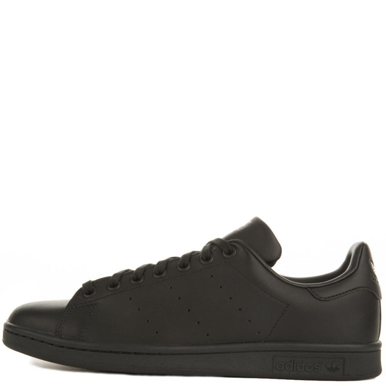 adidas for Men: Stan Smith Core Black / Black / Black Sneakers