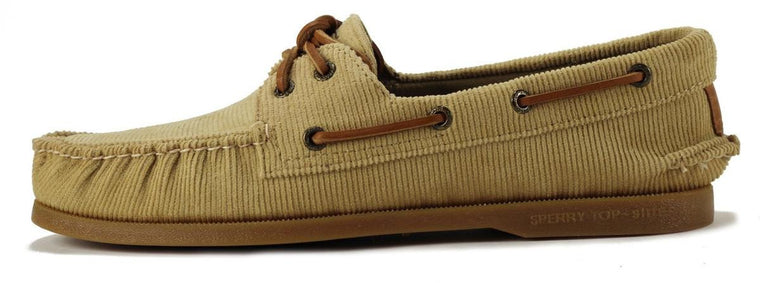 Sperry Top Sider for Men: A/O Corduroy Khaki Boat Shoe