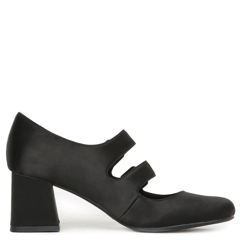 Bickle Black Satin Heels