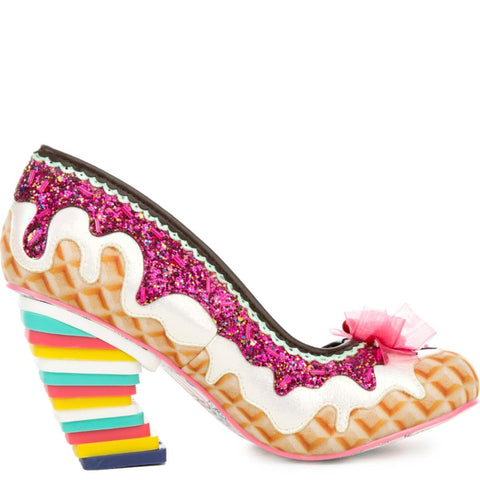 Women's Sweet Treats White and Pink High Heel