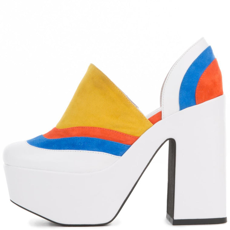 Jeffrey Campbell for Women: Lakisha White High Heel