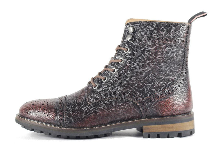 JD Fisk for Men: Forest Cognac Boot