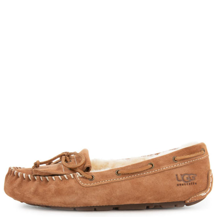 UGG Australia for Women: Meena Chestnut Suede Slippers
