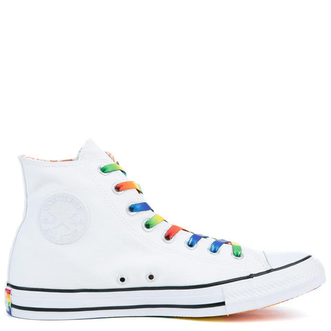 Unisex Chuck Taylor All Star High Pride White Sneakers