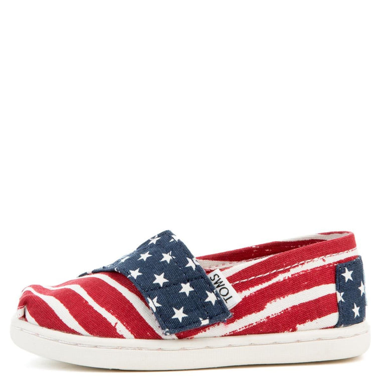 Tiny Toms Classics Americana Red, White, and Blue Flats