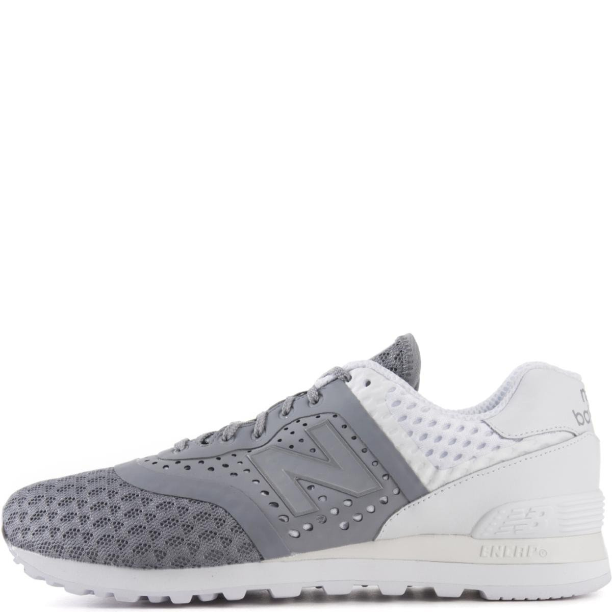 New Balance for Men: 574 Re-Engineered Breathe Grey Sneakers