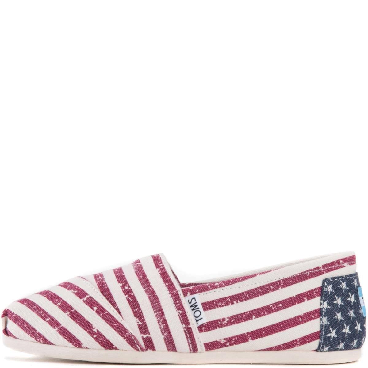 Toms for Women: Classic Americana Canvas Flag Flats
