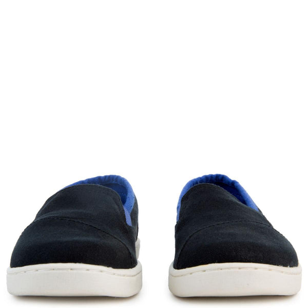 Avalon Black Canvas Slip-Ons