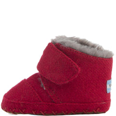 Tiny Toms: Cuna Crib Shoes Red Felt