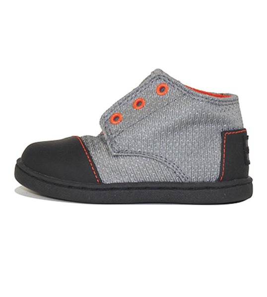 Tiny Toms: Paseo Mid Black Textured Nylon