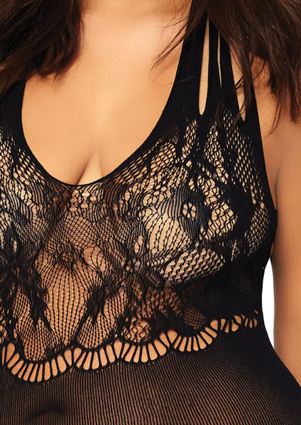 Women's Seamless Floral Lace Opaque