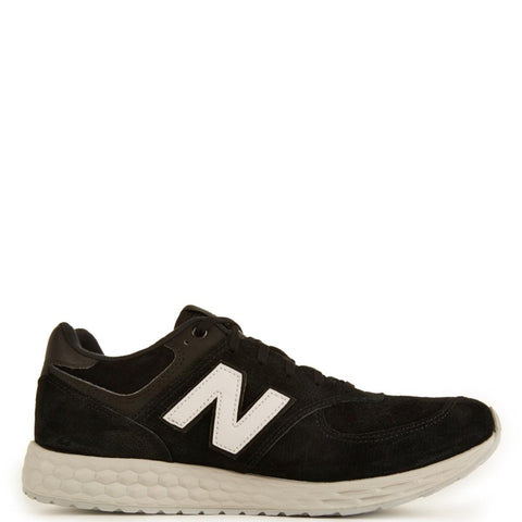 New Balance Unisex: 574 Fresh Foam Suede Black/White Running Shoes