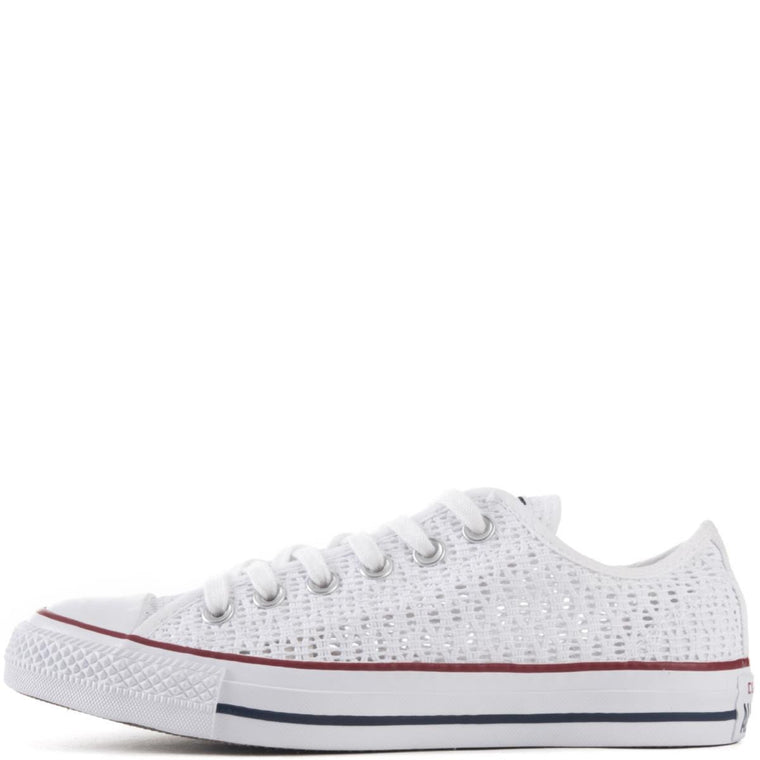 Converse for Women: Chuck Taylor Ox Crochet White Sneakers