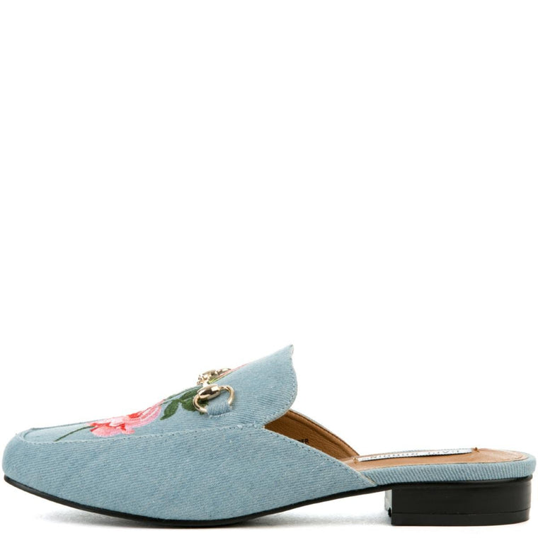 Cape Robbin Adel-7 Women's Blue Mules
