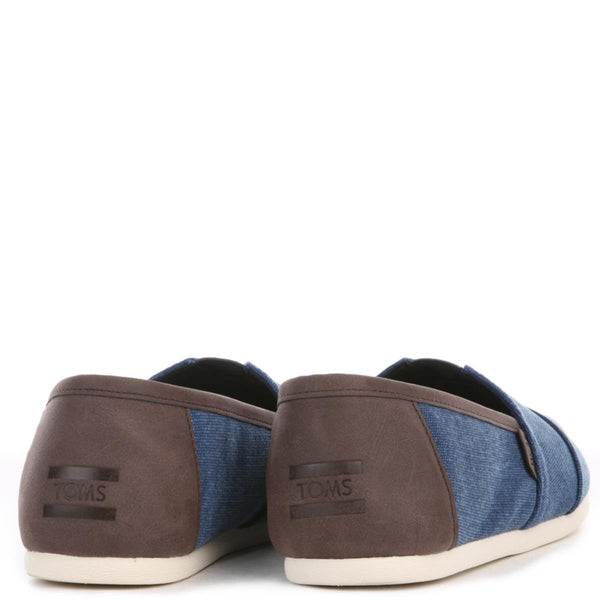 Toms for Men: Navy Washed Canvas/Trim Classic