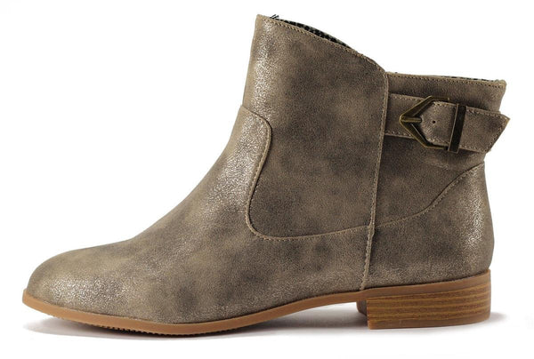 BC Footwear for Women: Building Blocks Light Gold Boots
