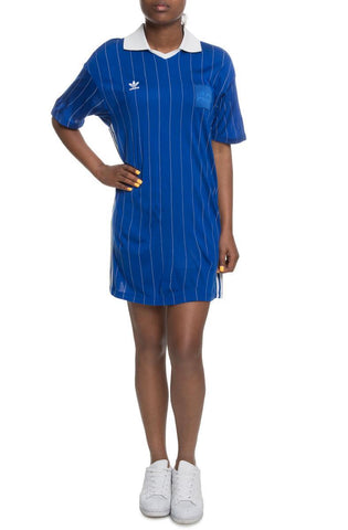 The Fsh L Dress in Royal and Vintage White