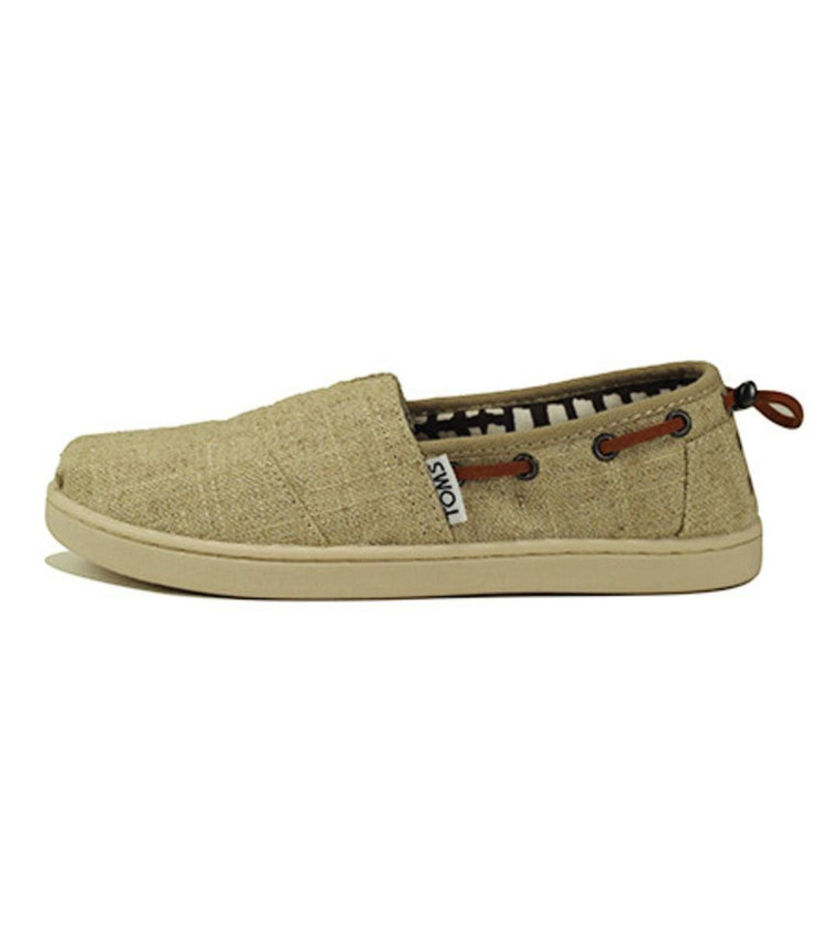 Kids Toms Bimini Natural Burlap