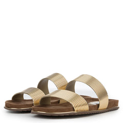 Cape Robbin Alisa-1 Women's Gold Sandals