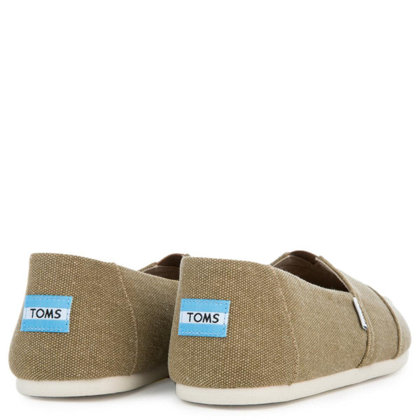 Toms Men's Classic Toffee Washed Canvas Flats