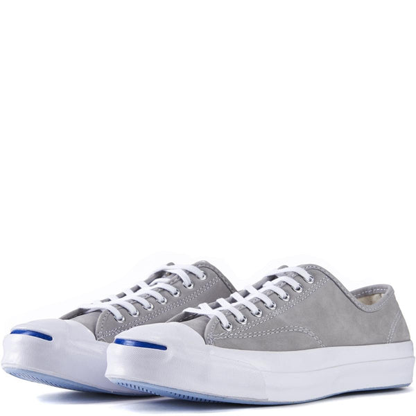Converse for Men: Jack Purcell Signature Nubuck Dolphin White Sneakers