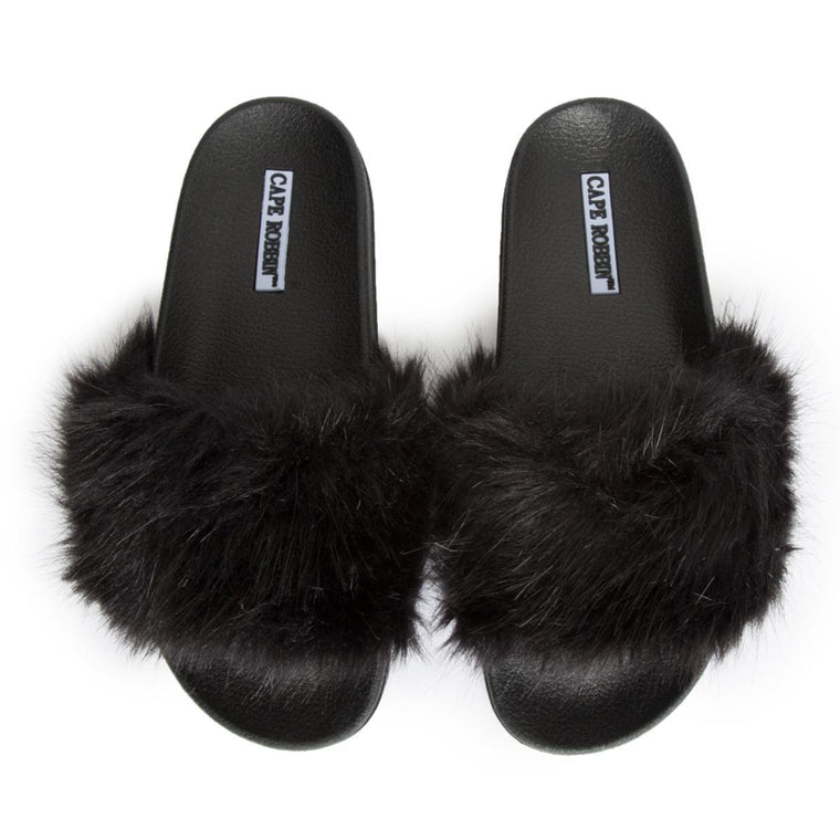 Cape Robbin Moira-5 Women's Black Slides