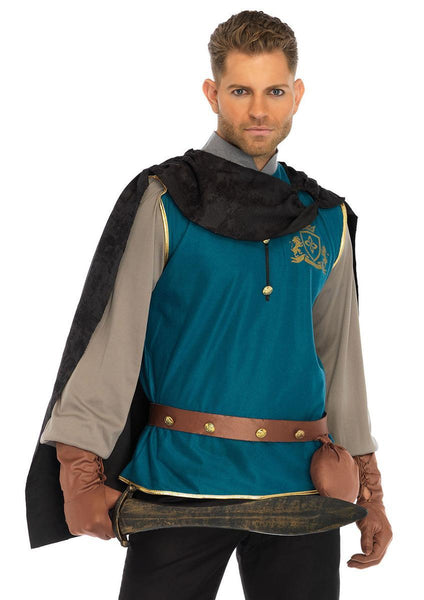 4PC.Storybook Prince,shirt,cape,studded belt,and gloves in MULTICOLOR