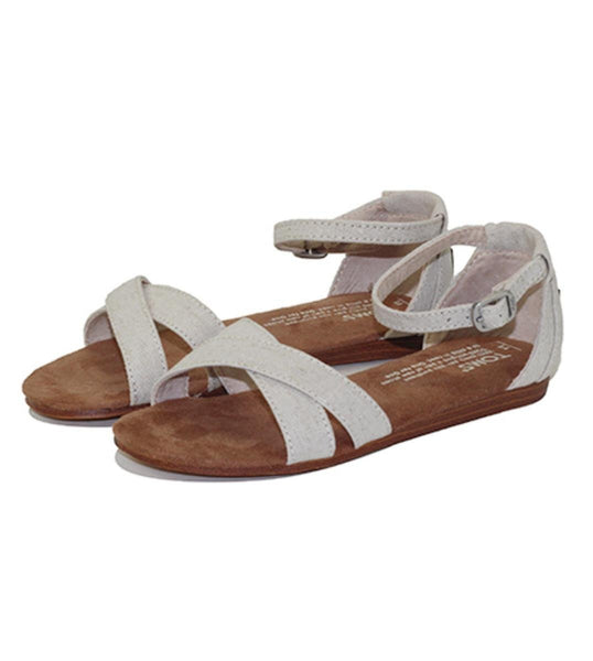 Toms for Kids: Correa Sandal Cream Chambray