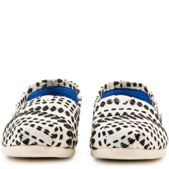 Toms for Women: Classics Black White Geo Stitch Woven Flats