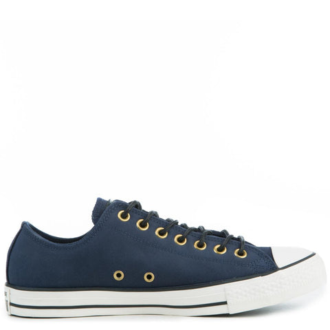 Converse Men's Chuck Taylor All Star Crafted Navy Blue Suede Low Tops