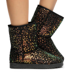 Annie-41 Sequin Booties