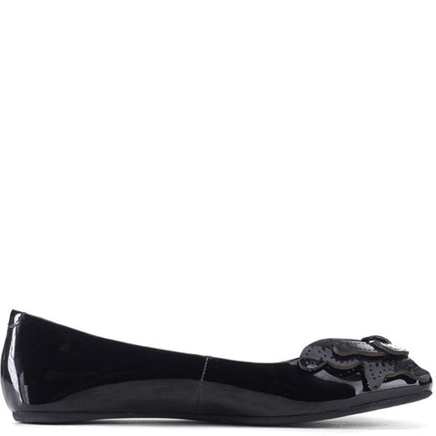 Jeffrey Campbell for Women: Flutter Black Patent Leather Flats