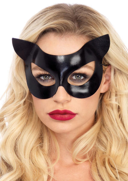 Vinyl cat mask (6 pieces per box )  in BLACK