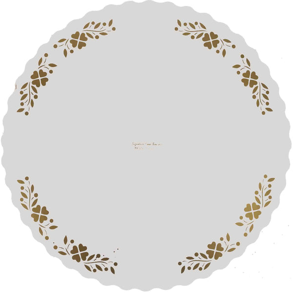 Classic Cake Board with Elegant Gold Border