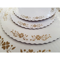 Stack of Classic Cake Board with Elegant gold graphics