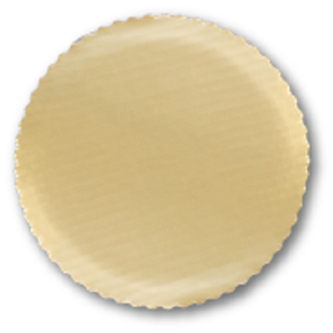 Sturdy Gold Cake Circle with Scalloped Edge