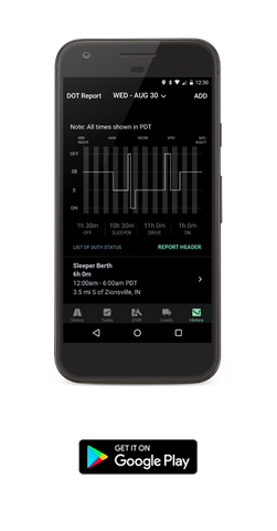 ZED ELD Driver Mobile App for Android