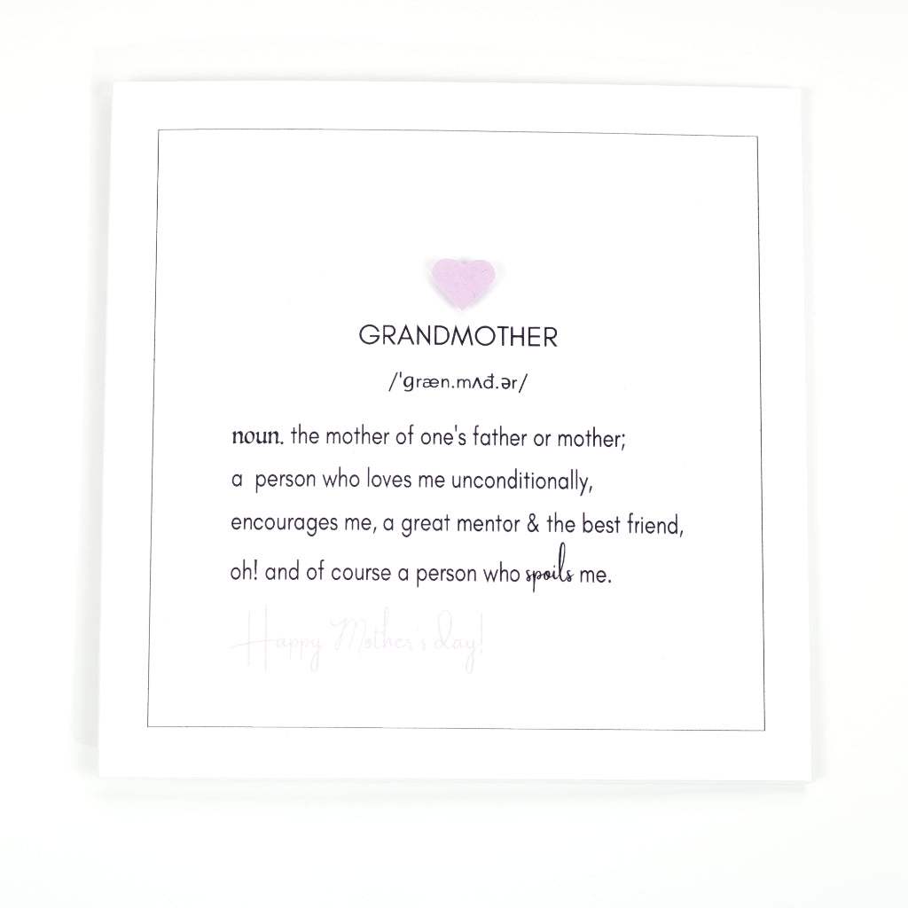 Definition of Grandmother Mother's Day Card