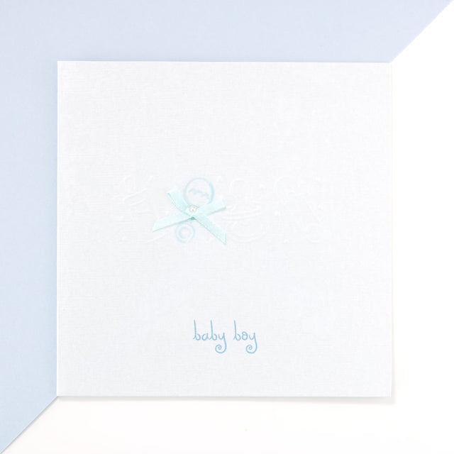 Baby Boy Card - Powder Blue