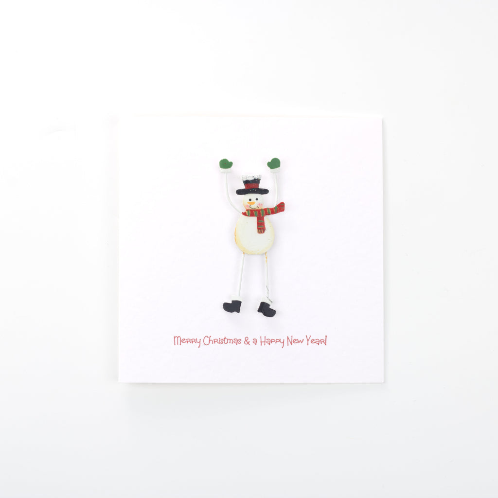 Love from Snowman Card - White