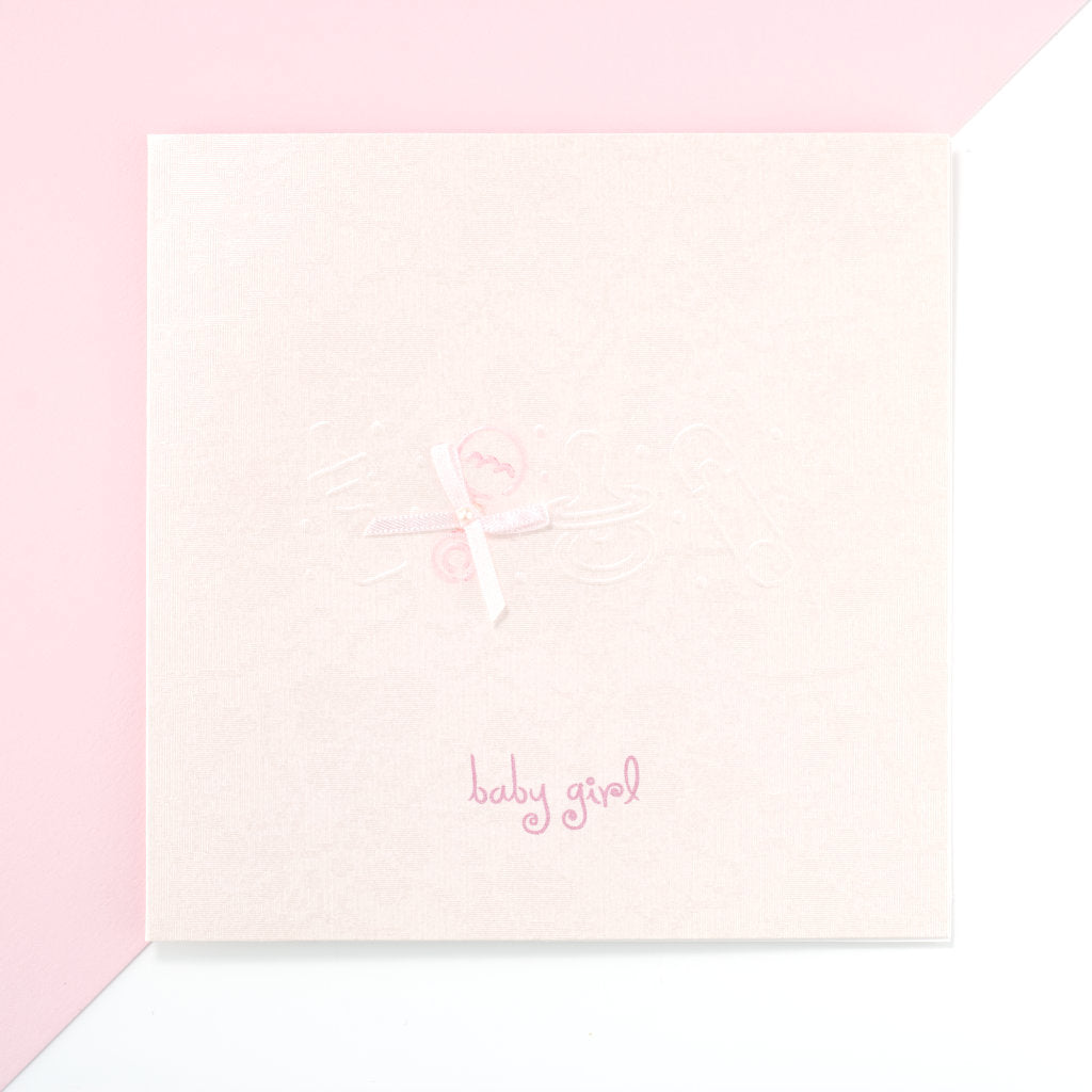 Baby Girl Card - Powder Pink