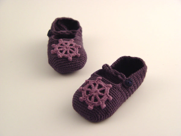 Handmade Bamboo Ship's Wheel Booties - Gypsum